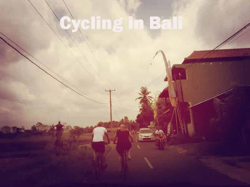 Bali cycling in Sanur and Ubud